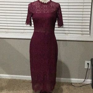 Burgundy dress by Just Me size med.
